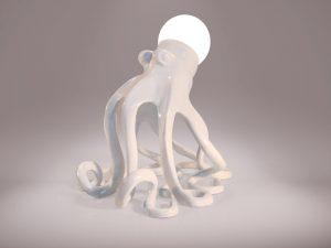8 Einzelstück Tischlampe stehender Oktopus