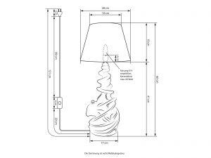 Tischlampe Oktopus Maße