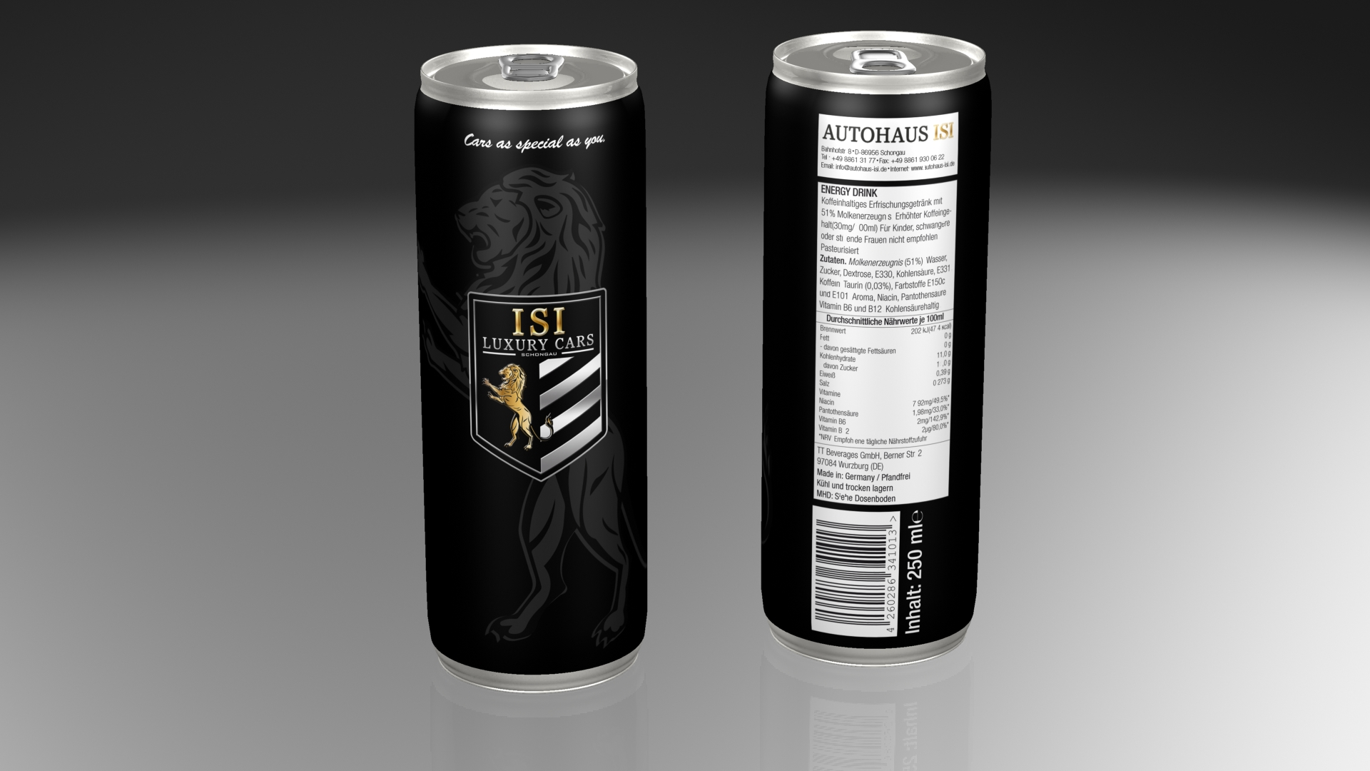 Autohaus ISI – Energydrinks