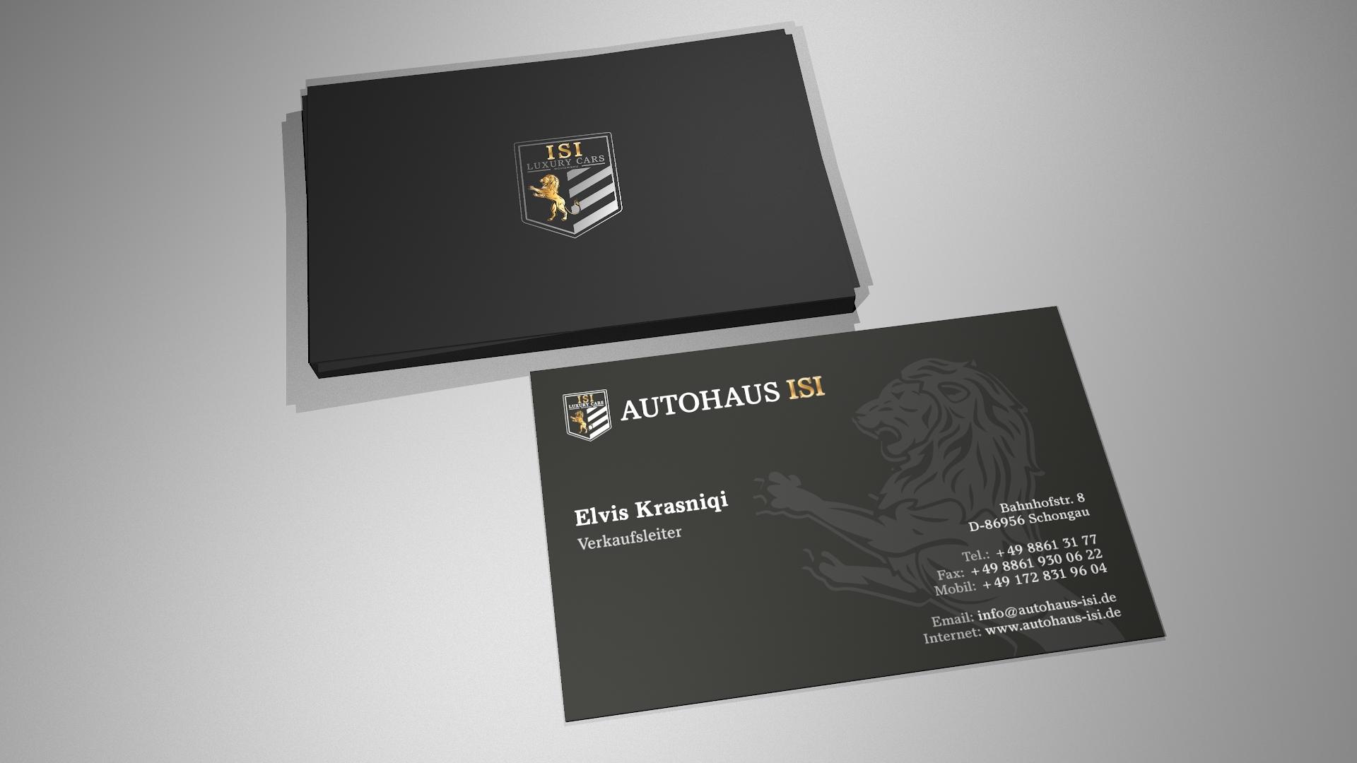 Autohaus ISI – Visitenkarten