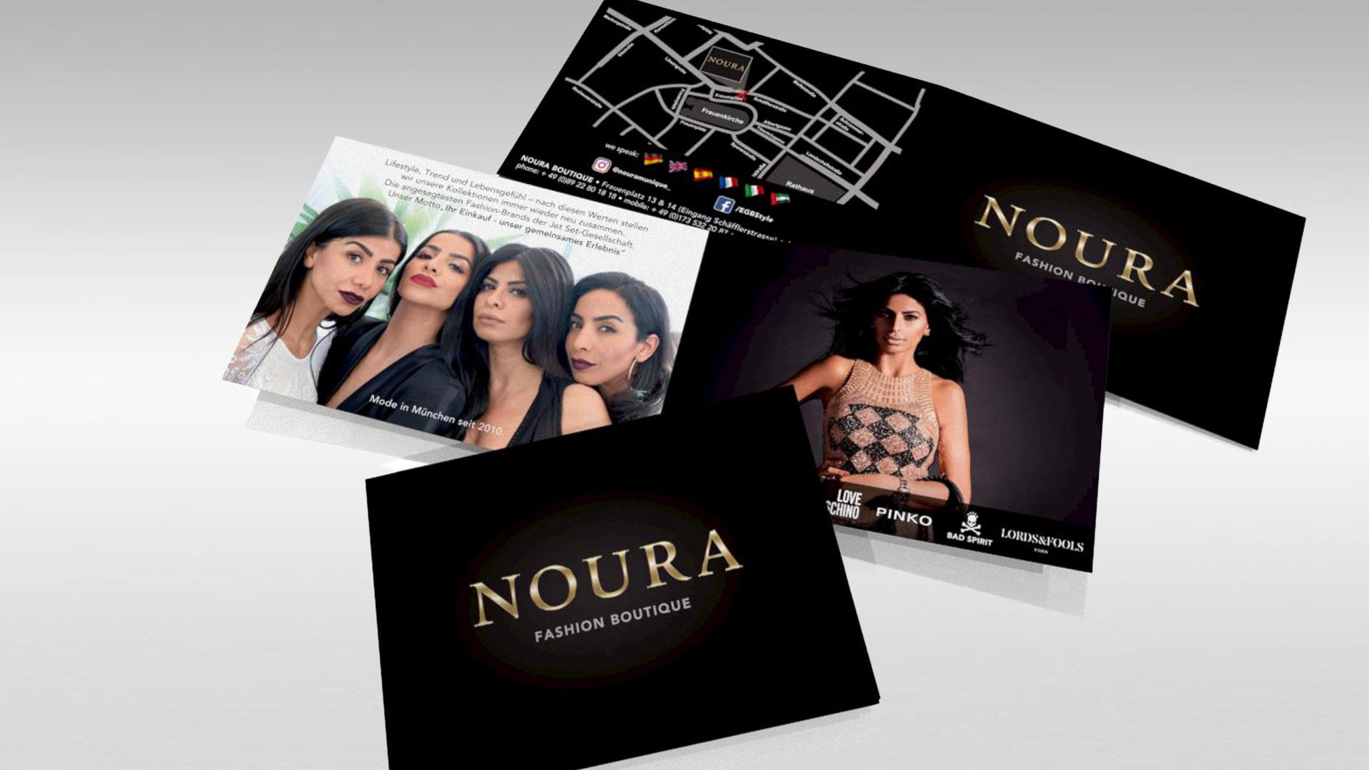 NOURA Fashion Boutique Image Flyer (Faltblatt 4-Seiter A6)