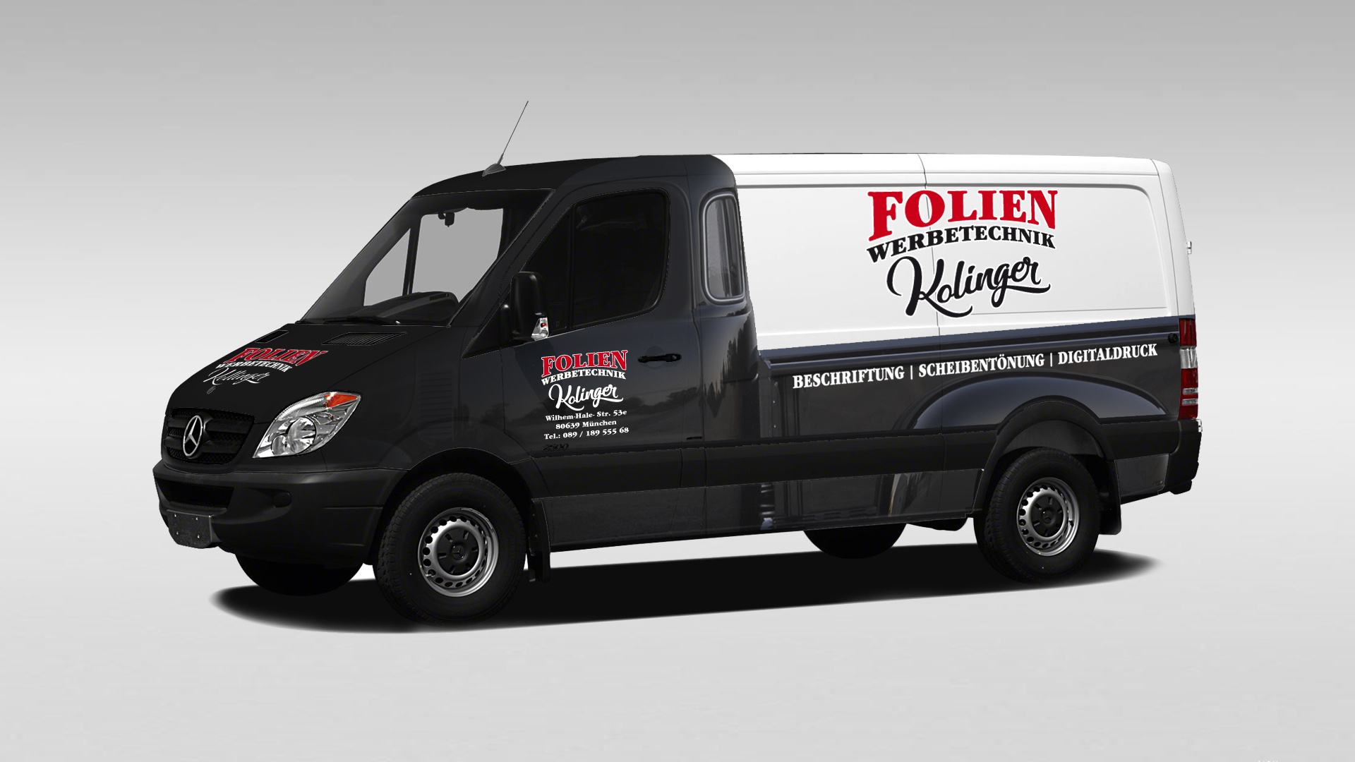 Folien Werbetechnik Kollinger - Folierung Sprinter in Hot Rod Pickup Optik