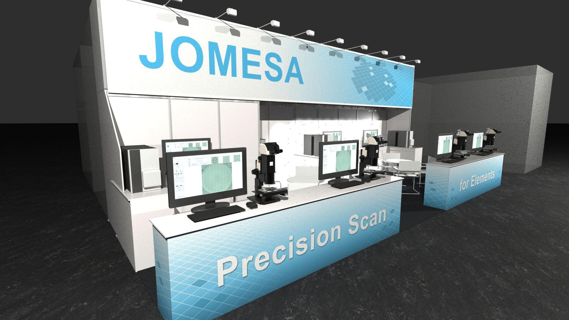 JOMESA Messestand PTC 2019 - 3D-Ansicht 2