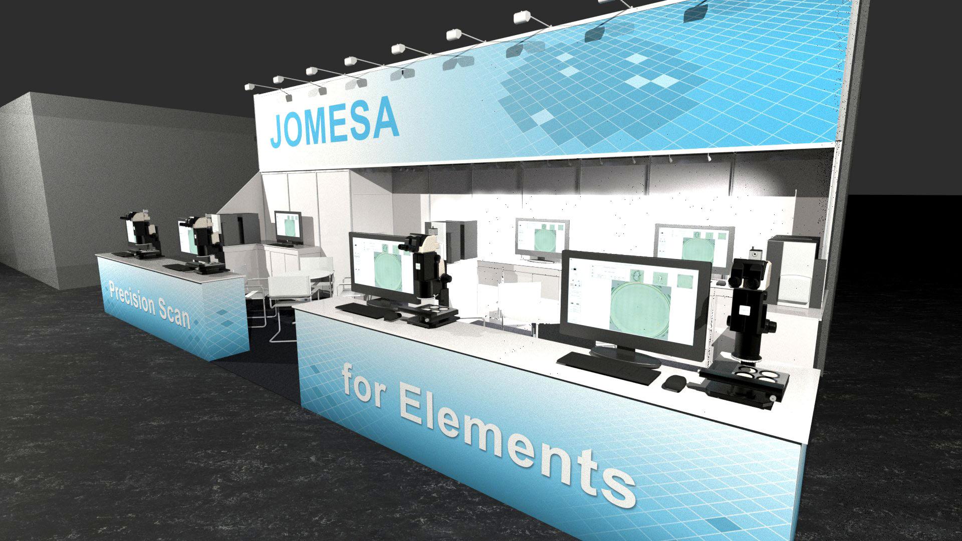 JOMESA Messestand PTC 2019 - 3D-Ansicht 3