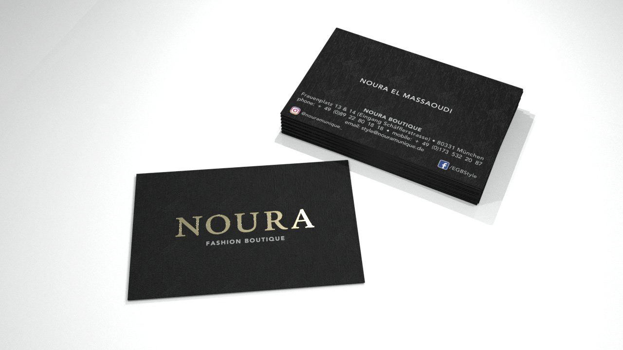 Visitenkarten - NOURA Fashion Boutique